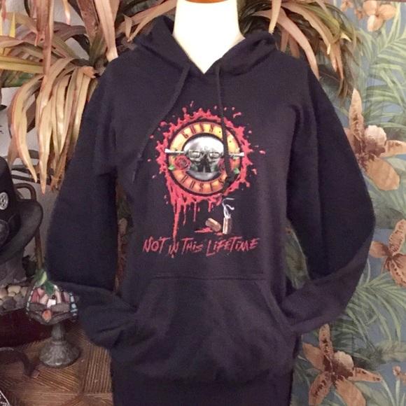 "c2948a1505e Guns N Roses Tops - Guns N Roses ""Not in this lifetime"" black hoodie"